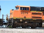 BNSF 9379 Sitting On The Rear Of A Coal Train