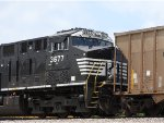 NS 3677 Sitting On The Rear Of A Scherer Coal Train
