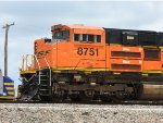 BNSF 8751 Sitting On The Rear Of A Scherer Coal Train