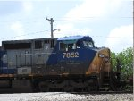 CSX 7852 Trailing On A BNSF Mixed Freight In The Yard