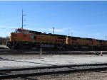 Three BNSF B40-8Ws Hooked Together, BNSF No. 511, 523, & 507