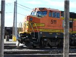 BNSF B40-8W No. 511 Close Up