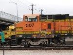 BNSF B40-8W 507 In The Yard