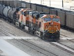 BNSF 3848 With A Mixed Freight In The Kansas Avenue Railyard