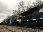 NS 3660 Trailing On A Consist Of 6 New NS Tier IVs On A BNSF Train