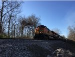 BNSF 5193 Leading NS Tier IV Delivery Train