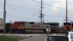 BNSF 732 Trailing On An Intermodal At Cherry Street