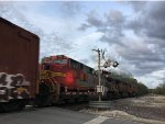 BNSF 718 Trailing On A BNSF Mixed Freight At Turners