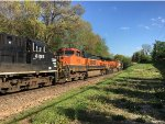 BNSF 1036 Trailing On A Scherer Coal Train At Catalpa