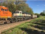 BNSF 9595 Trailing On A Scherer Coal Train At Catalpa