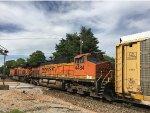 BNSF 4484 Trailing On An Autorack
