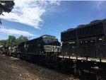NS 3669 Trailing On An Intermodal