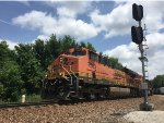 BNSF 7563 Leading A Mixed Freight