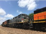 KCSM 4564 Trailing On A BNSF Mixed Freight