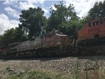 BNSF 689 Trailing On A Mixed Freight