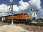 BNSF 7054 Leading A Mixed Freight