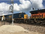 CSX 870 Trailing On A BNSF Mixed Freight