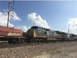 CSX 7852 Trailing On A BNSF Mixed Freight At Eldon