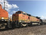 BNSF 507 Trailing On A BNSF Mixed Freight