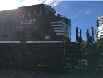NS 4027 Trailing On A BNSF Mixed Freight