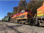 KCS 4833 Trailing On BNSF Mixed Freight