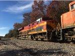 KCS 4860 Trailing On BNSF Coal Train