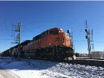 BNSF 9230 Leading Empty Scherer Coal Train