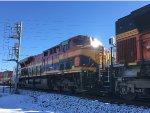 KCS 4683 Trailing On BNSF Scherer Coal Train