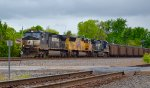 Southbound NS coal run through Worthington, Ohio.
