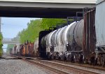 And northbound with a long freight passing under I-270 in Worthington, OH