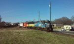 Hartwell Railroad switching colorful lashup.