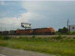 BNSF 6086 leads a Union Electric coal train south