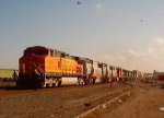 Nine units eastbound on the BNSF in Amarillo, TX