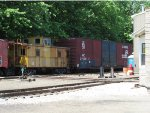 Caboose and Boxcar