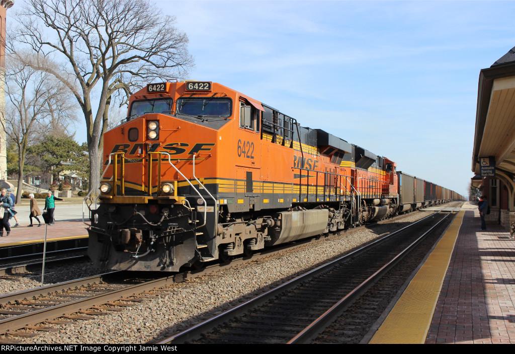 BNSF Coal Train on the Racetrack