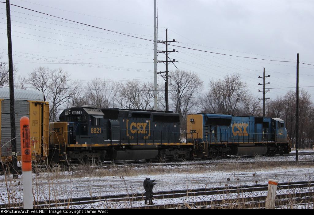 CSX Autorack Train at Dolton Junction