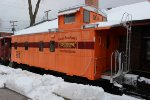Chicago South Shore & South Bend RR Caboose at Rileys Railhouse