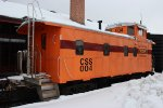 Chicago South Shore & South Bend RR Caboose at Riley's Railhouse
