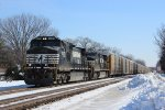 NS Autorack Train in Chesterton, IN