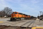 BNSF Work Train on the Racetrack