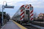 Inbound Metra at Bensenville