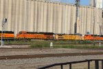 UP 6468 and BNSF 3854