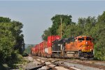 BNSF 8483 On NS 200 Westbound At New River Jct