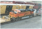 BNSF 5870 leaves the fuel pits at Argentine Yard