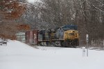 CSX 299 & 5327 pull M335 west on a cold January day