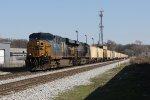 CSX 5287 & 3101 roll 65 grain empties for MQT west as V694-11