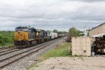 After doubling up on a second cut of cars, 3220 pulls a little farther west with Q327