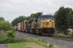 Q326 rolls through Grandville behind a trio of AC4400's
