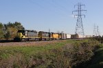 GDLK303 heads north as it near Hughart Yard with the 4206 , 4124 & 4225 for power