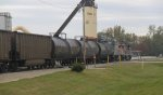And the pair continue to Aspro asphalt plant . . .